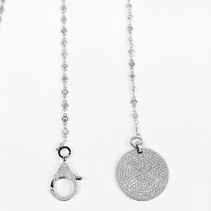Jewelry - Designer Micropave Pendant Necklace